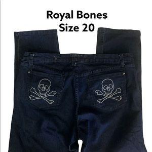 TORRID Royal Bones Plus Size Skull Jeans EUC
